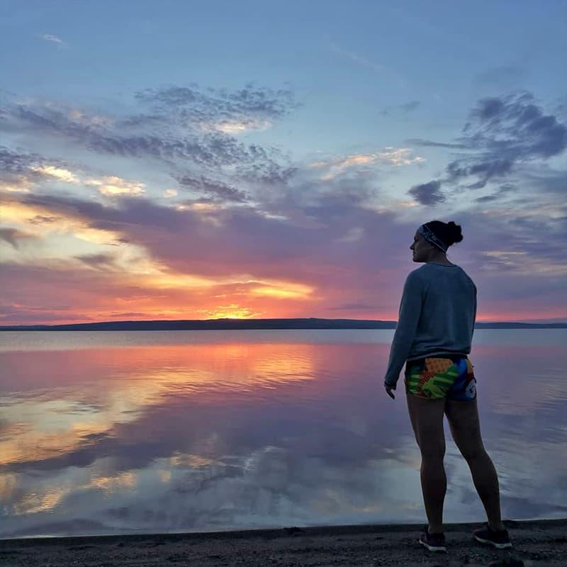 Закат на озере Белё в летнем лагере