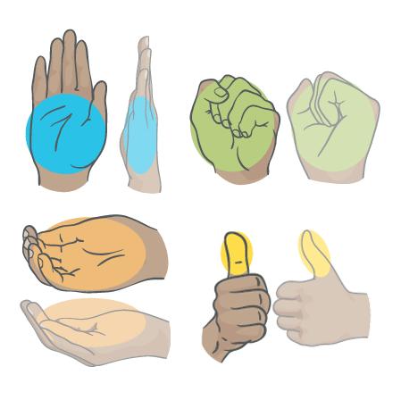 Измерение порций руками