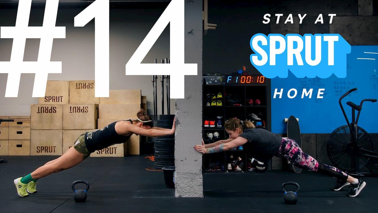 14 домашняя тренировка по кроссфиту SPRUT Stay-at-home