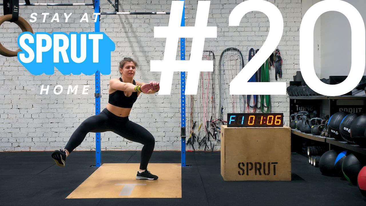 20 домашняя тренировка по кроссфиту SPRUT Stay-at-home