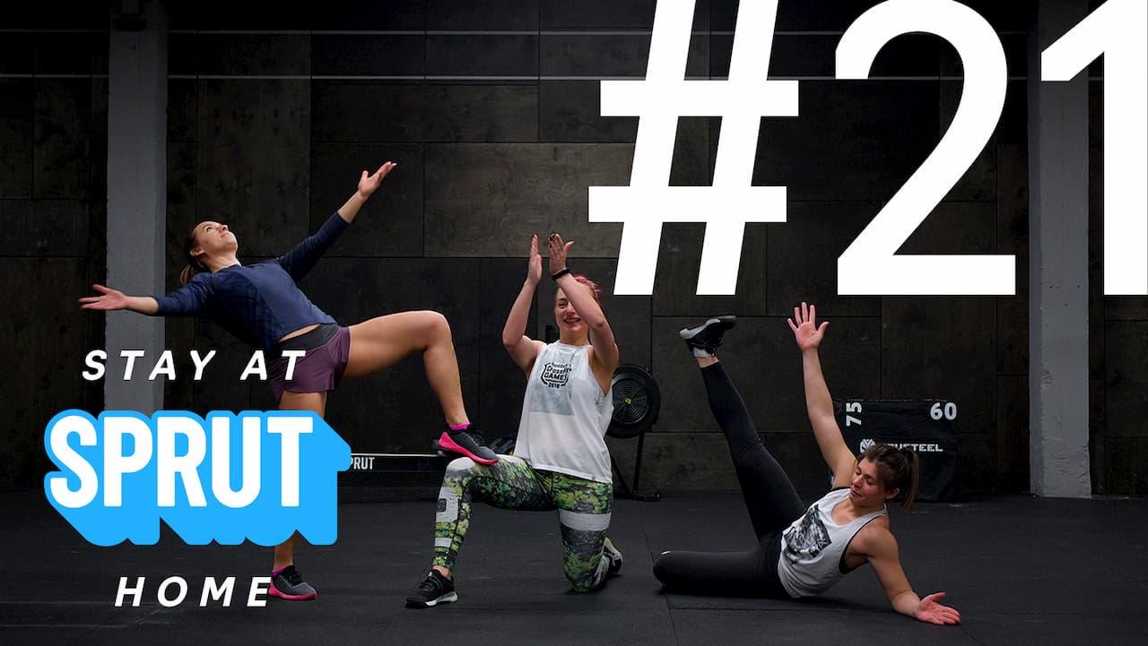 21 домашняя тренировка по кроссфиту SPRUT Stay-at-home