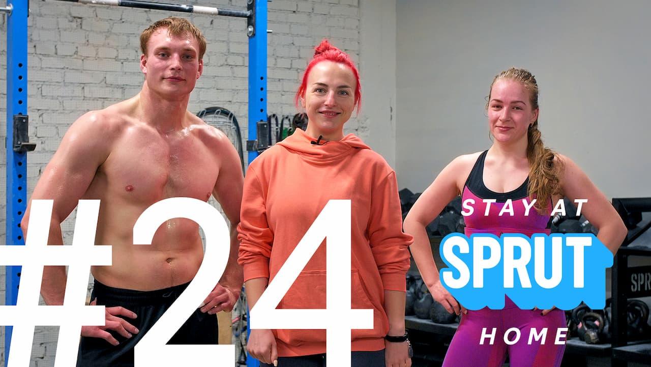 24 домашняя тренировка по кроссфиту SPRUT Stay-at-home