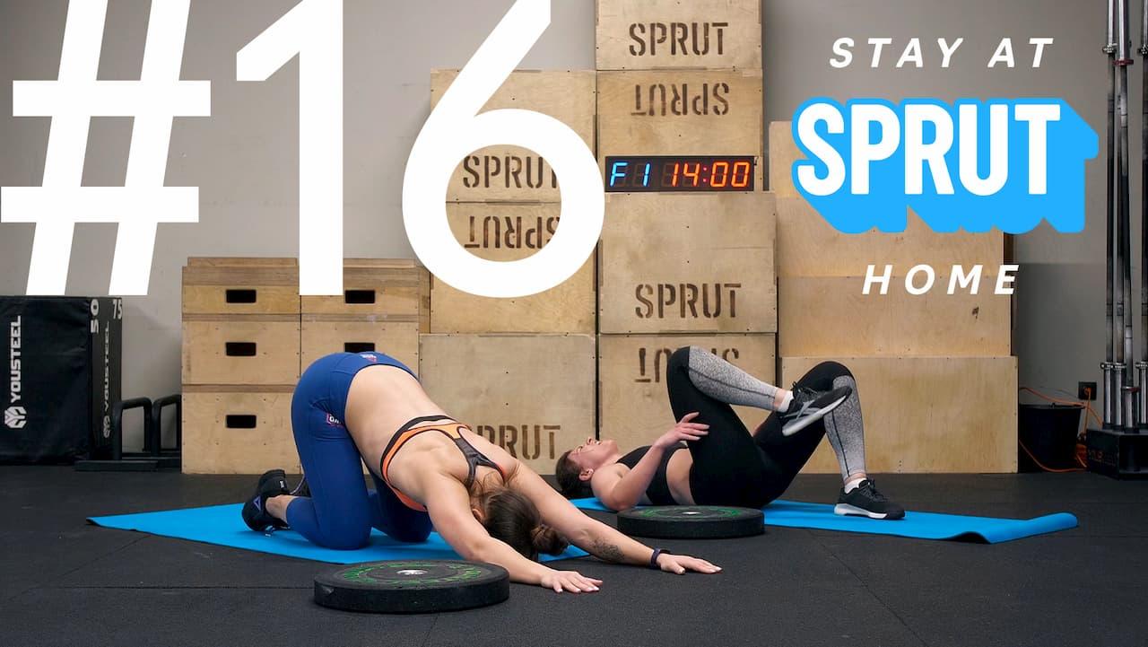 16 домашняя тренировка по кроссфиту SPRUT Stay-at-home